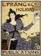 Vintage L.Prang & Co's Holiday Publications Advertising Poster.